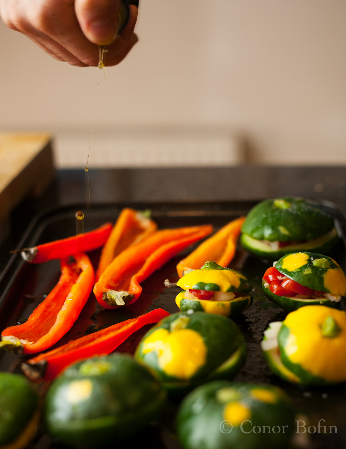 Mini Squash and paprika peppers
