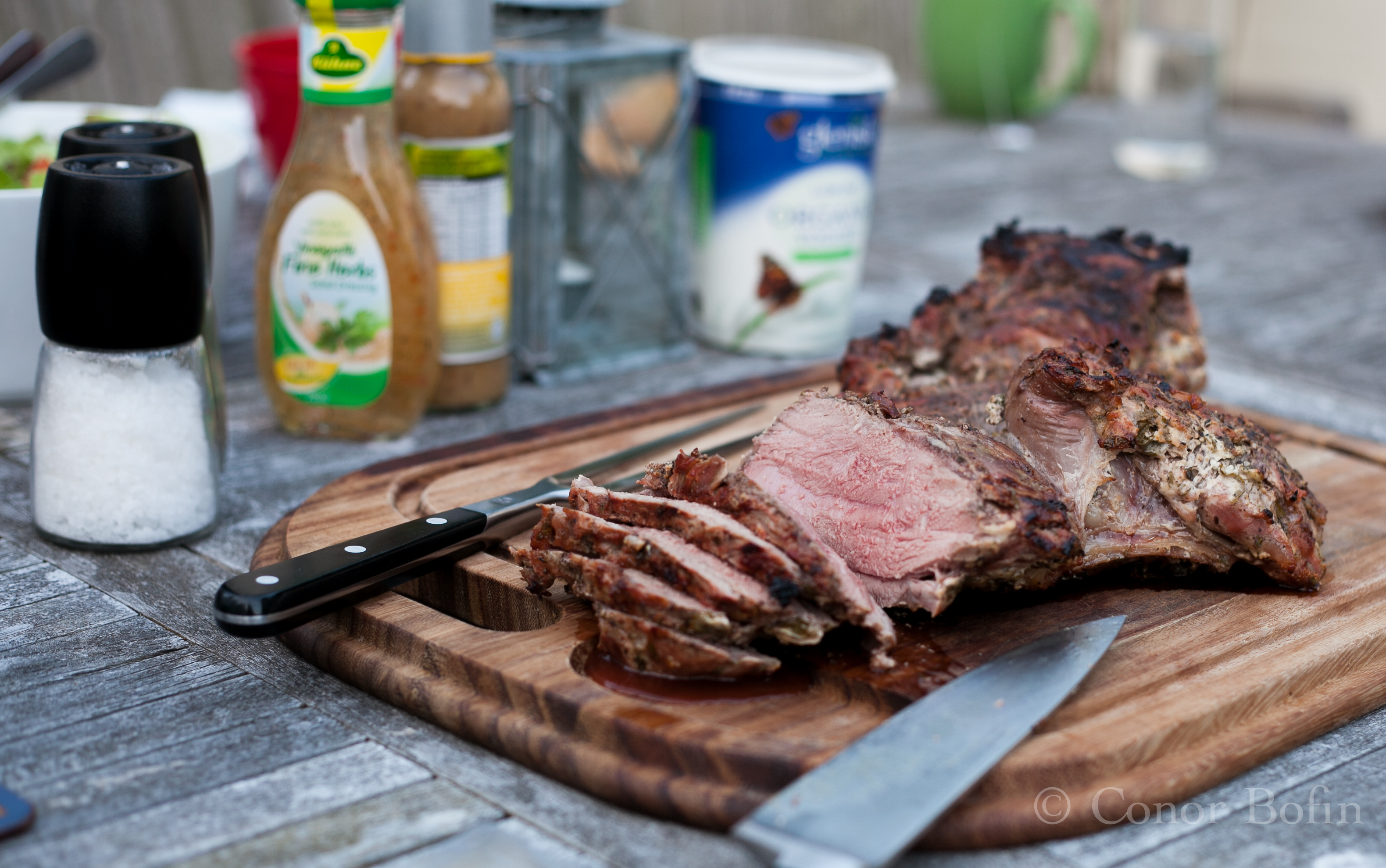 We are in the pink with this. The marinade added a beautiful layer of flavours to the lamb.