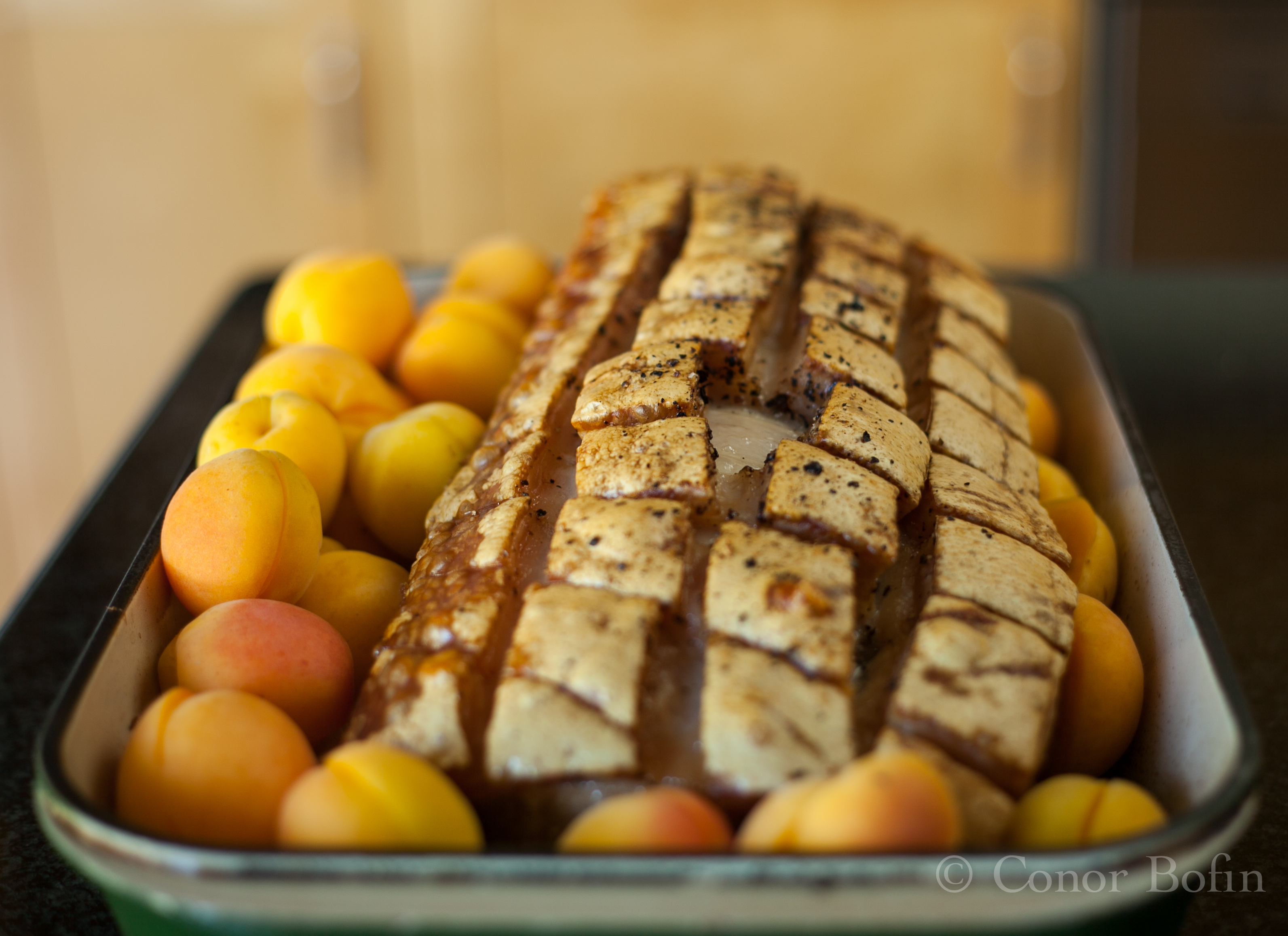 Pork Loin with Onion and Apricot