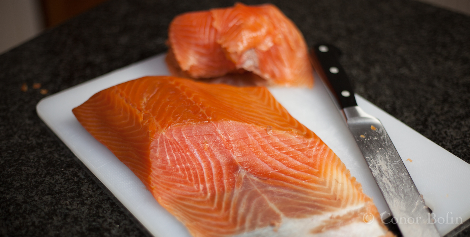 I was very happy with the texture and flavour of the salmon.