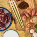 Beef rendang ingredients