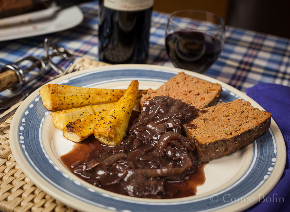 The meatloaf is rescued from grey mediocrity. A lovely dish.