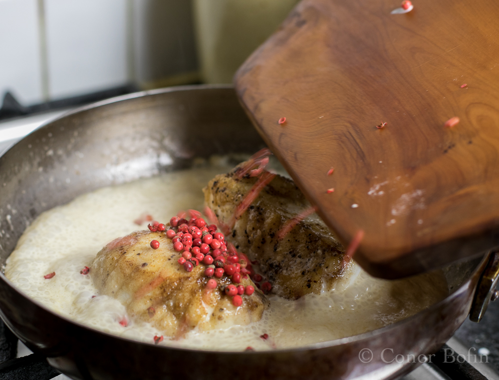 Monkfish with red peppercorn sauce (6 of 8)
